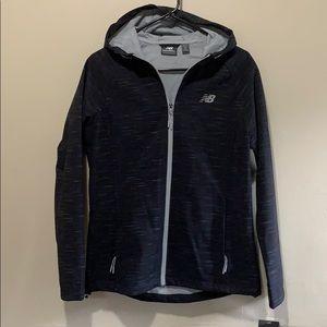 NWT Wind & Water Resistant Black & Gray NB Jacket